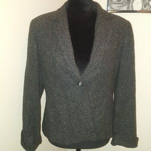 🍒5for$20 Talbots gray wool blend jacket. Size 10P
